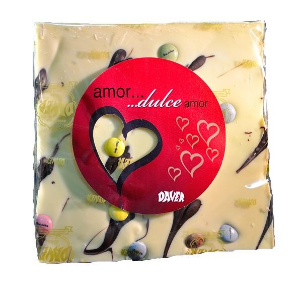 """Tableta de Chocolate marmolado """"especial"""" San Valentín."""